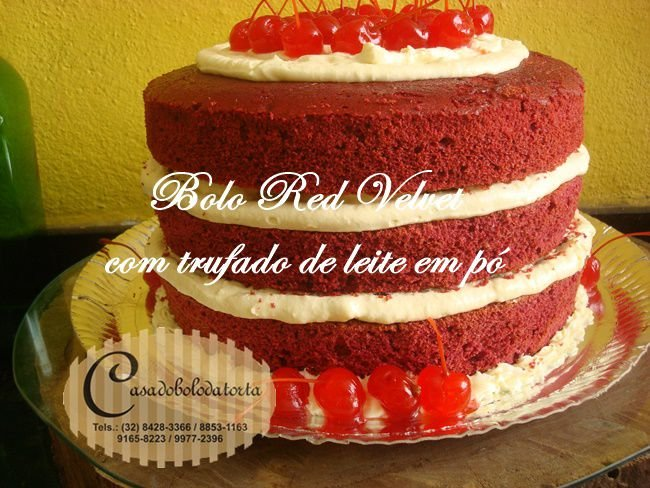 BOLO RED VELVET (VELUDO VERMELHO)