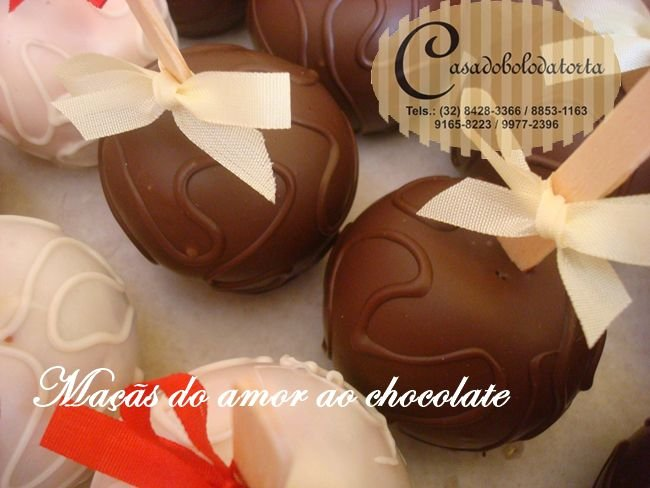 MAÇÃ DO AMOR AO CHOCOLATE