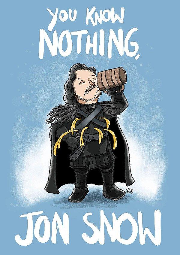 PRINT - Jon Snow - NÃO ACOMPANHA MOLDURA
