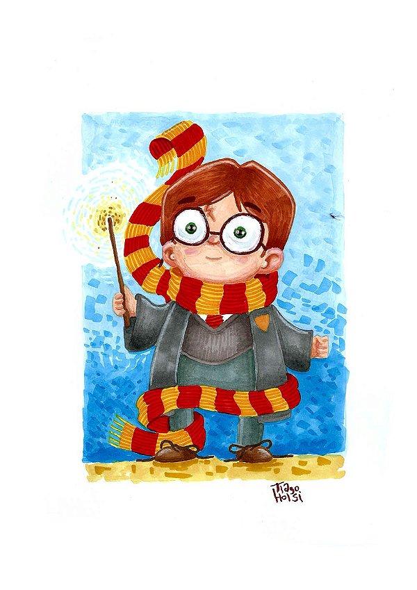 PRINT - Harry Potter - NÃO ACOMPANHA MOLDURA