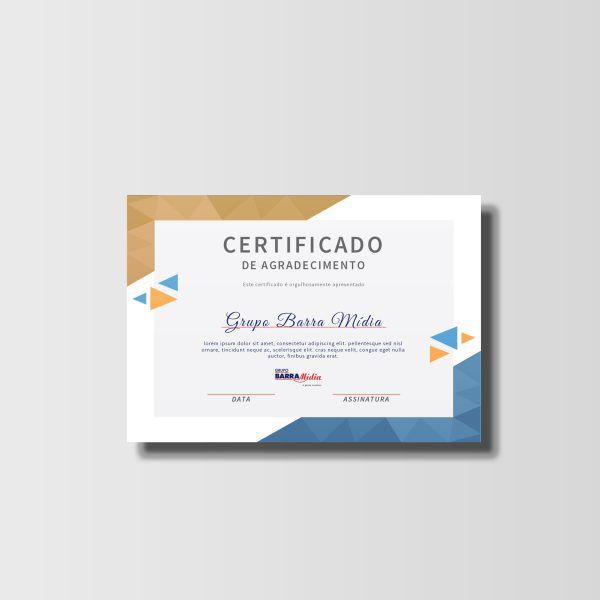 Certificado  - 100unds - 250gr (4x0)