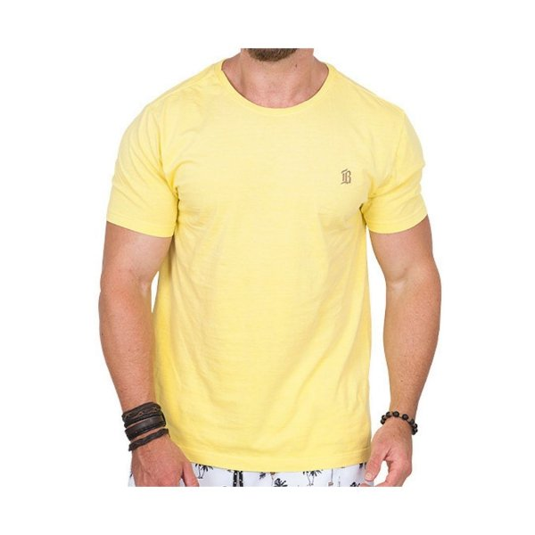 Camiseta Estonada Masculina Amarela