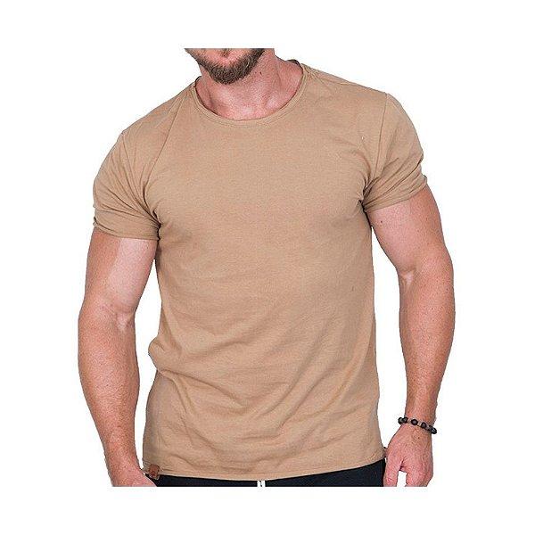 Camiseta Básica Masculina Caramelo