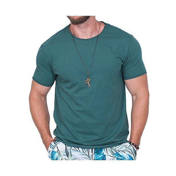 Camiseta Básica Masculina Verde Esmeralda
