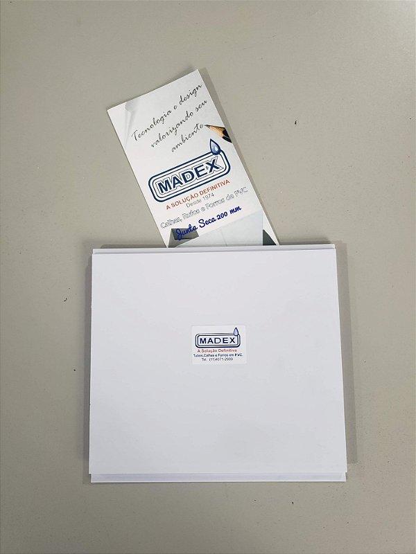 Forro de PVC  Junta Seca Brilho  200mm x 8,00mm