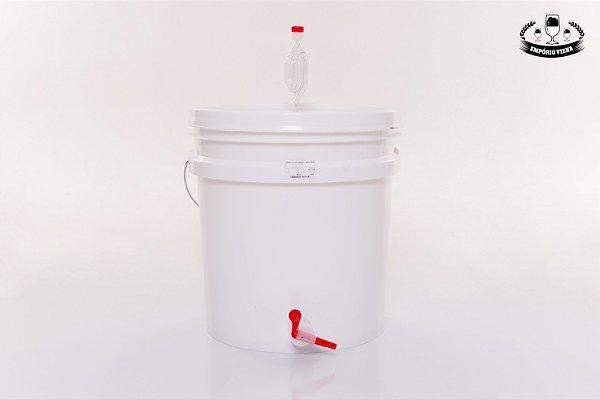 Balde plástico montado (fermentador)
