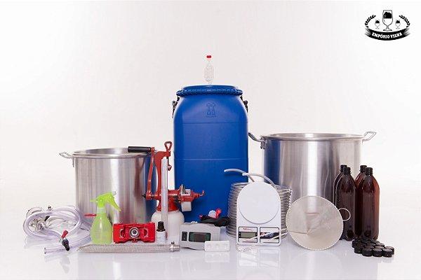KIT Cervejeiro Completo 60 litros - Panelas de Alumínio