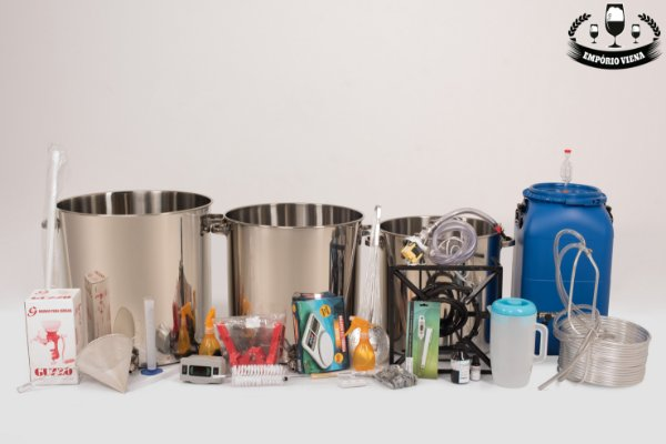 Kit Cervejeiro Inox 201 - 25 litros