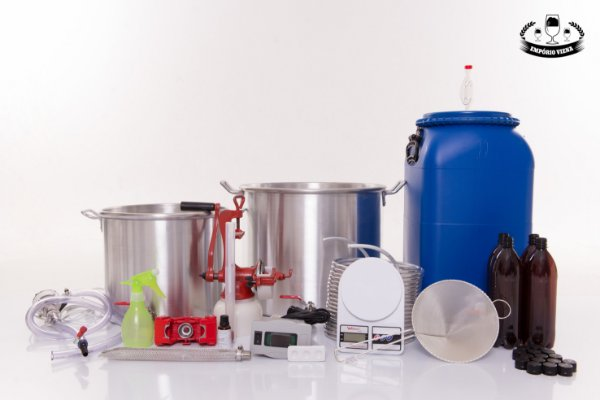 Kit Cervejeiro Completo 30 litros - Panelas de Alumínio