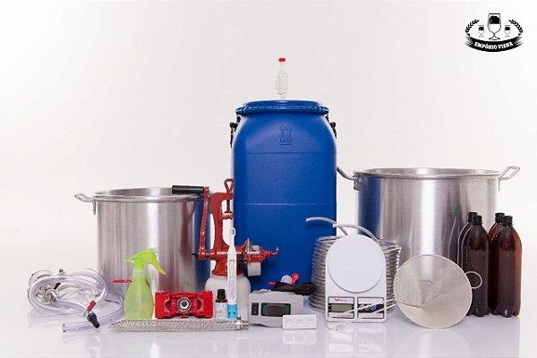 Kit Cervejeiro Completo  20 litros - Panelas de Alumínio