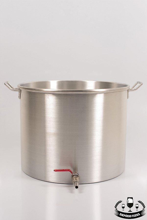 Panela de alumínio 30 l com registro