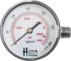Manômetro de alta para regulador de CO2