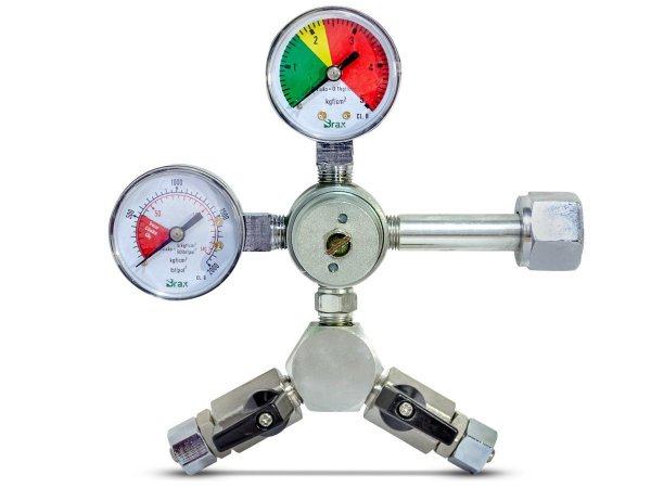 Regulador de pressão 2 saídas com manômetro  (RC 129)
