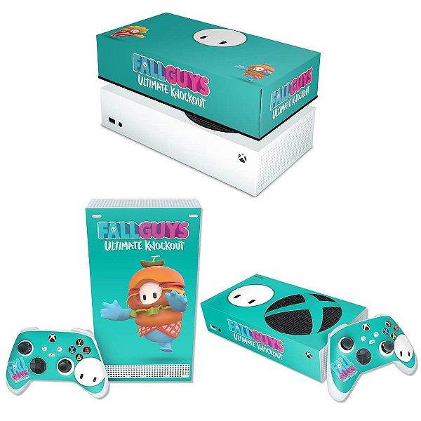 KIT Xbox Series S Skin e Capa Anti Poeira - Fall Guys