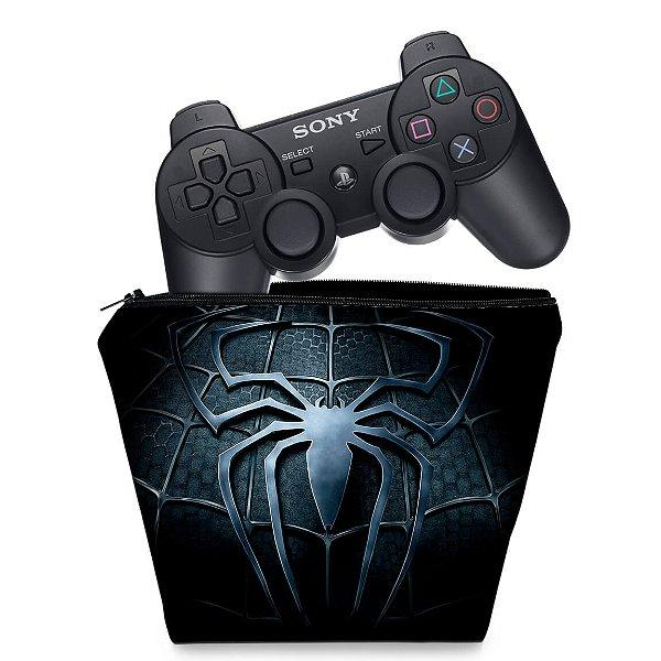 Capa PS3 Controle Case - Homem Aranha