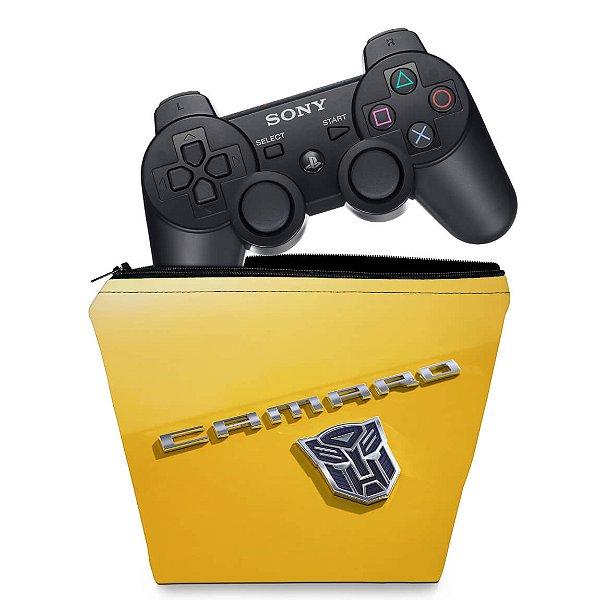 Capa PS3 Controle Case - Transformers Camaro