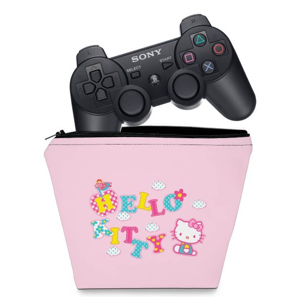 Capa PS3 Controle Case - Hello Kitty