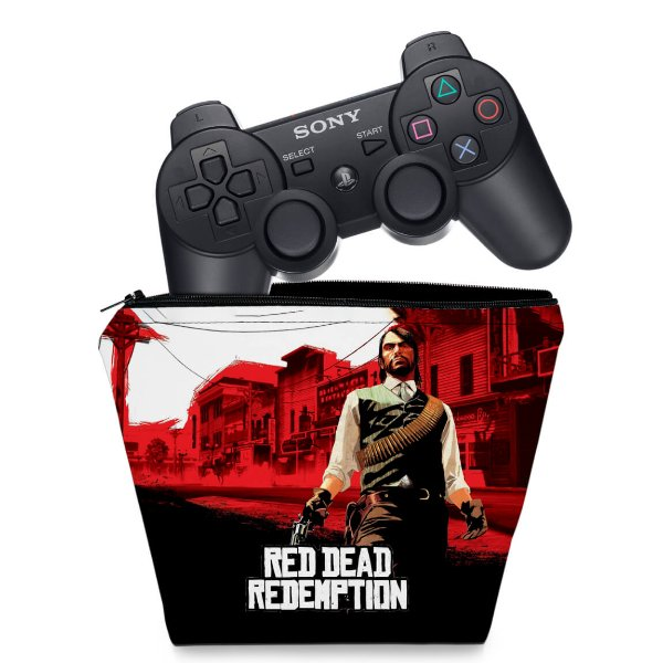 Capa PS3 Controle Case - Red Dead Redemption