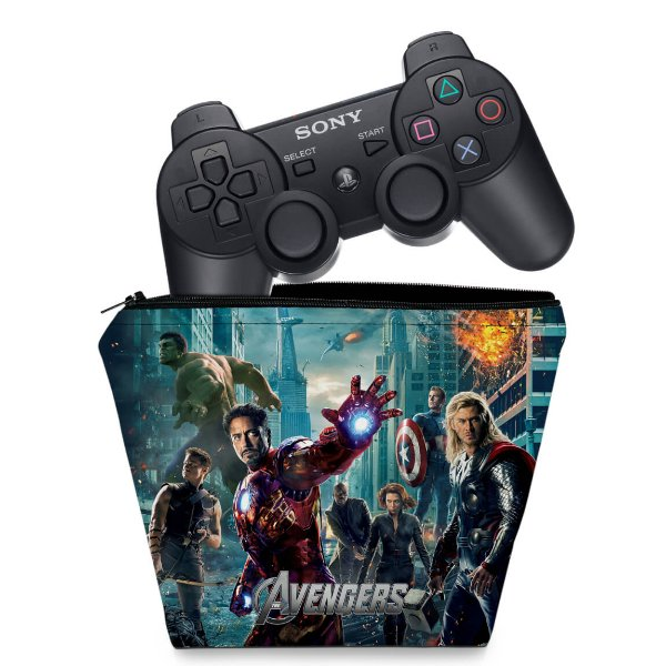 Capa PS3 Controle Case - Avengers Vingadores