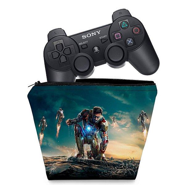 Capa PS3 Controle Case - Homem De Ferro