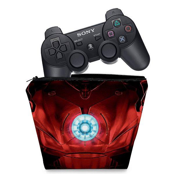 Capa PS3 Controle Case - Iron Man
