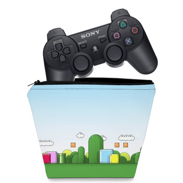 Capa PS3 Controle Case - Super Mario Bros