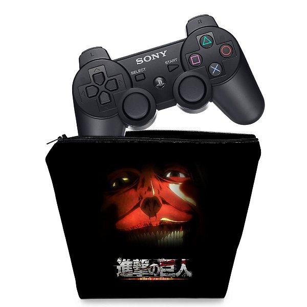 Capa PS3 Controle Case - Attack On Titan #b