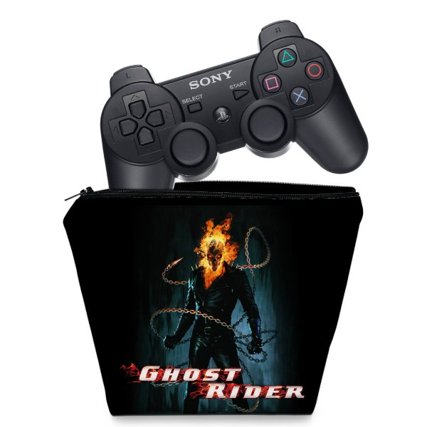 Capa PS3 Controle Case - Ghost Rider Motoqueiro #b