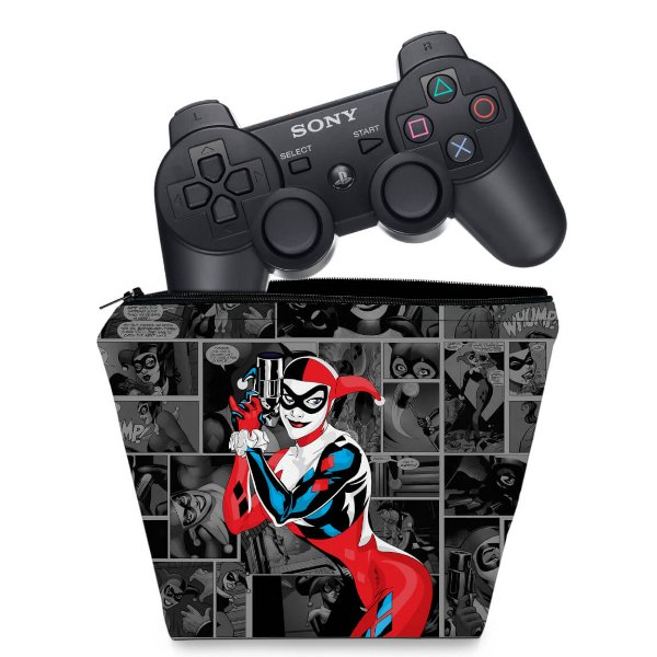 Capa PS3 Controle Case - Arlequina Harley Quinn