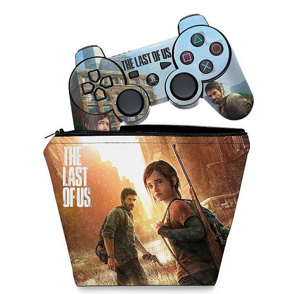 KIT Capa Case e Skin PS3 Controle - Last Of Us