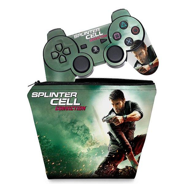 KIT Capa Case e Skin PS3 Controle - Splinter Cell