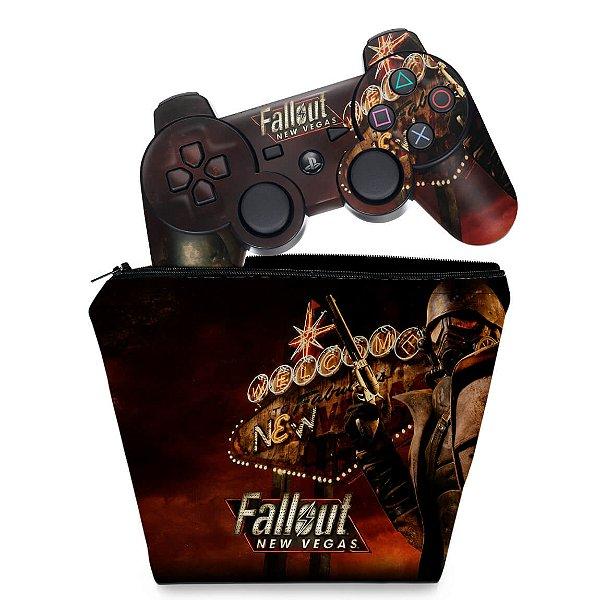 KIT Capa Case e Skin PS3 Controle - Fallout New