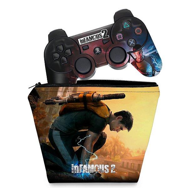 KIT Capa Case e Skin PS3 Controle - L.a. Noire