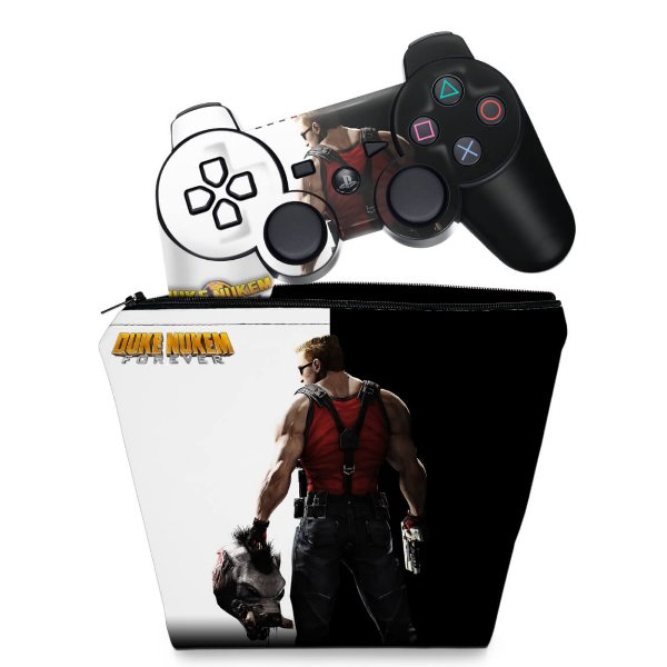 KIT Capa Case e Skin PS3 Controle - Duke Nukem Forever