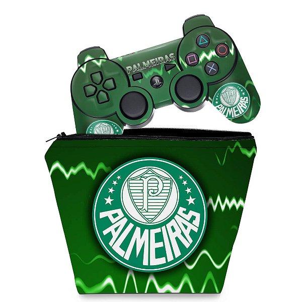 KIT Capa Case e Skin PS3 Controle - Palmeiras