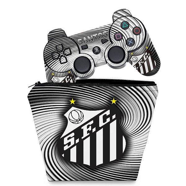 KIT Capa Case e Skin PS3 Controle - Santos