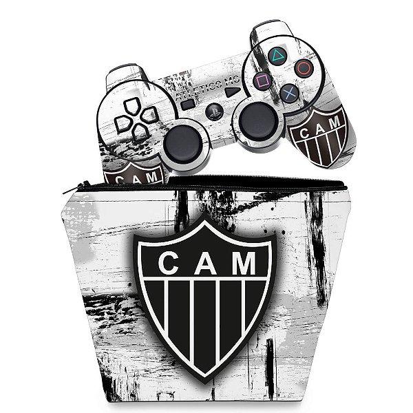 KIT Capa Case e Skin PS3 Controle - Atlético Mineiro
