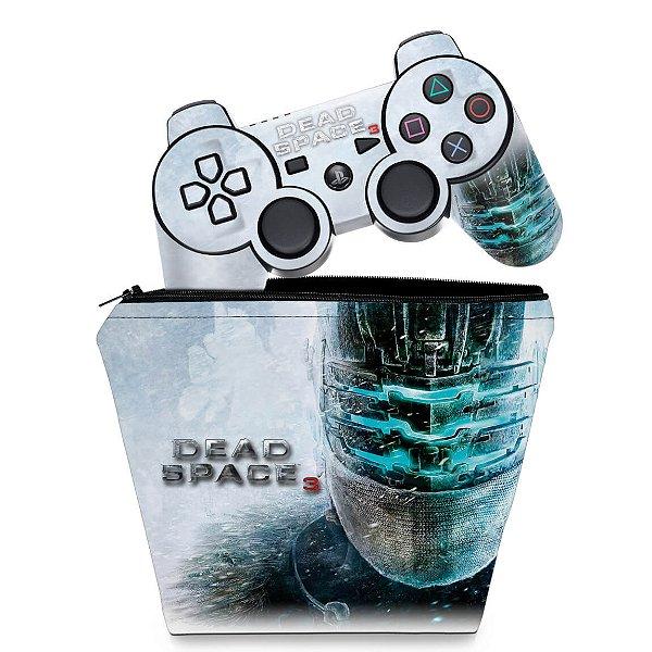 KIT Capa Case e Skin PS3 Controle - Dead Space 3