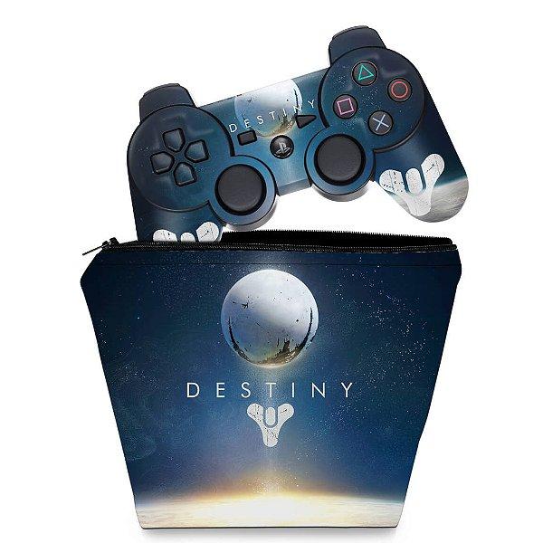 KIT Capa Case e Skin PS3 Controle - Destiny