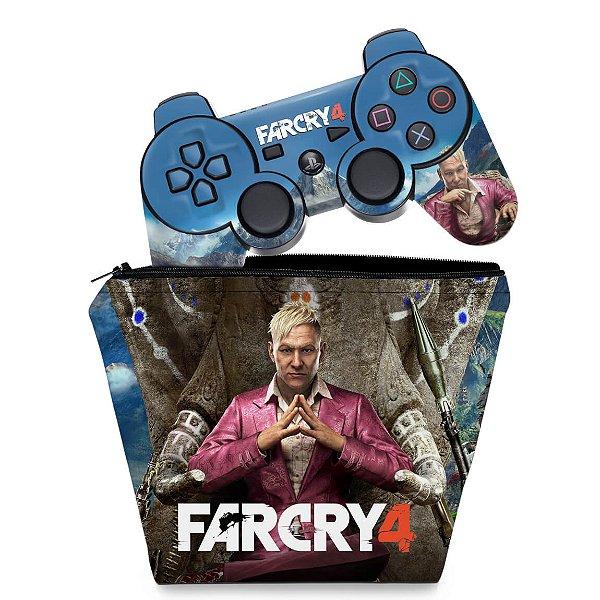 KIT Capa Case e Skin PS3 Controle - Far Cry 4