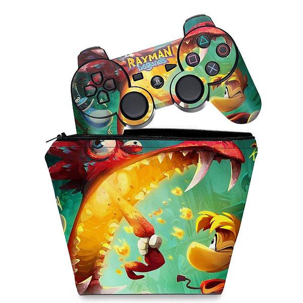 KIT Capa Case e Skin PS3 Controle - Rayman Legends