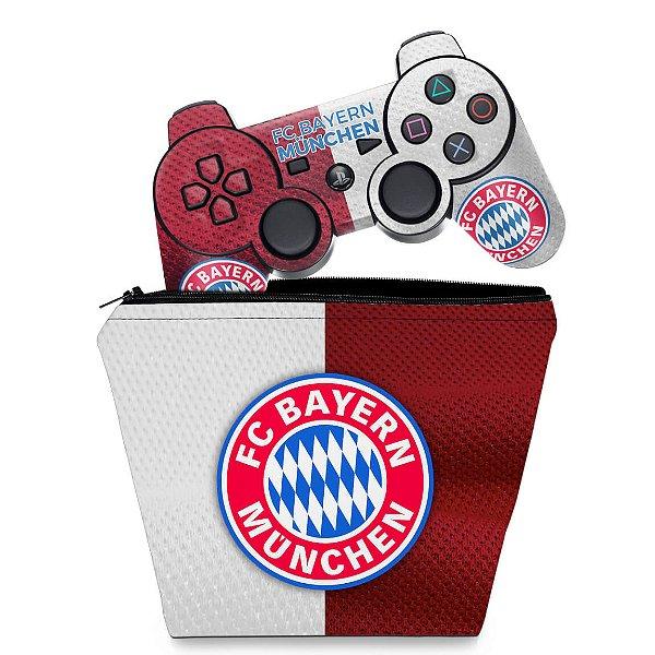 KIT Capa Case e Skin PS3 Controle - Bayern de Munique