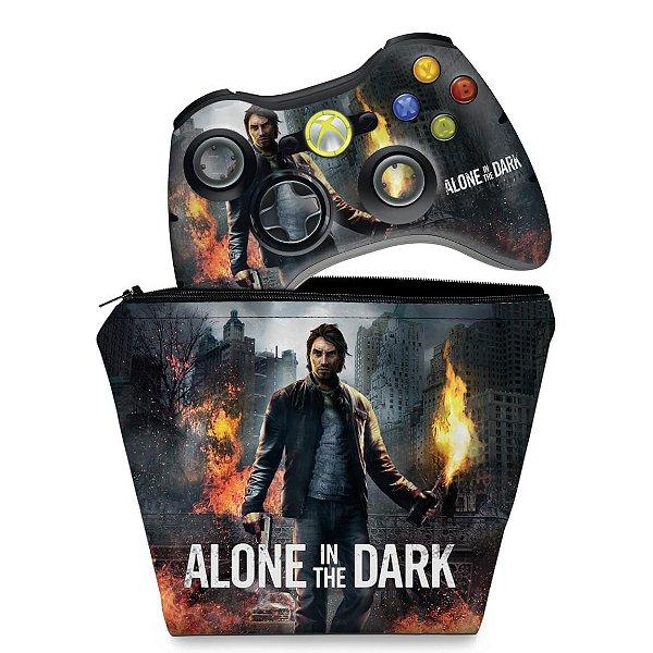 KIT Capa Case e Skin Xbox 360 Controle - Alone In The Dark