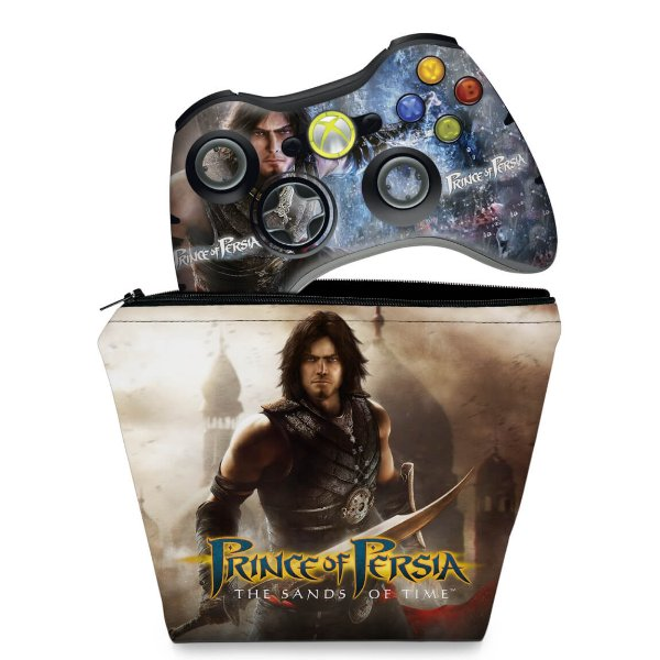 KIT Capa Case e Skin Xbox 360 Controle - Prince Of Persia