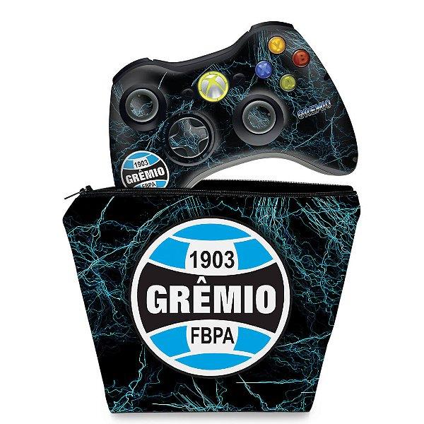 KIT Capa Case e Skin Xbox 360 Controle - Gremio