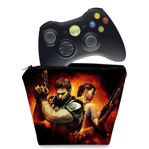 Capa Xbox 360 Controle Case - Resident Evil 5