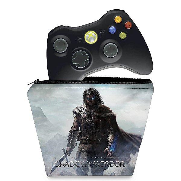 Capa Xbox 360 Controle Case - Shadow Of Mordor
