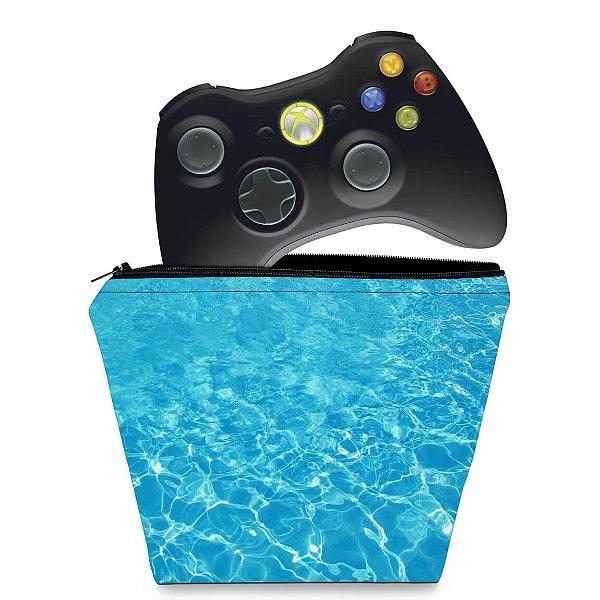 Capa Xbox 360 Controle Case - Aquático Água