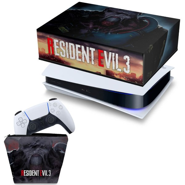 KIT PS5 Capa e Case Controle - Resident Evil 3 Remake