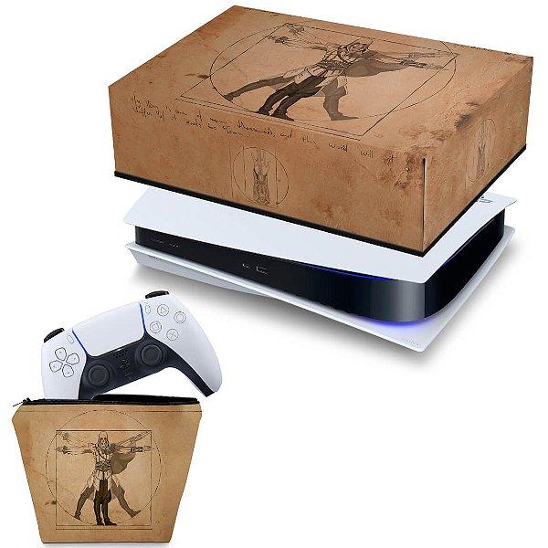 KIT PS5 Capa e Case Controle - Assassin'S Creed Vitruviano